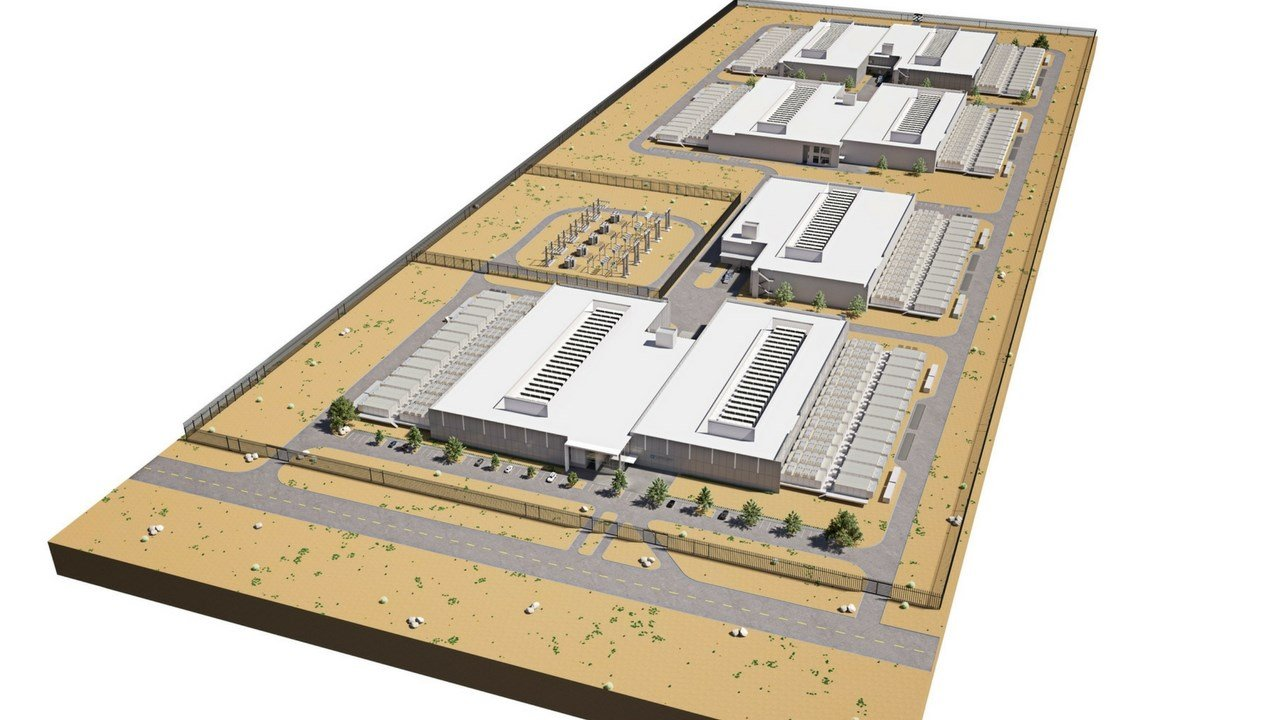 Bird's-eye view of the future campus. (Source: City of Mesa)
