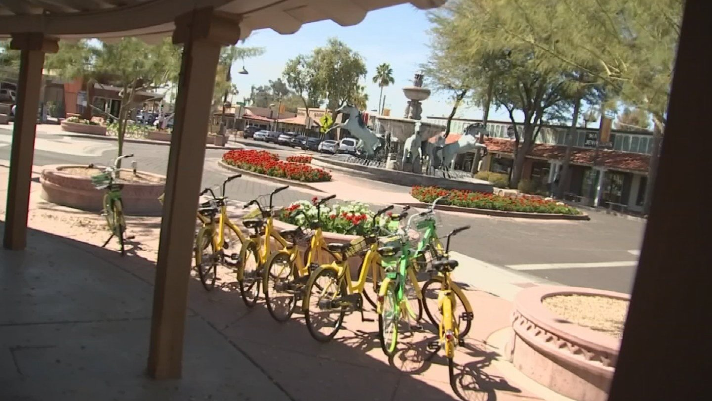 Bike rental companies have available bikes on Scottsdale streets. (Source: 3TV/CBS 5 News)
