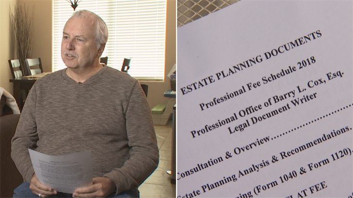 David Heim received a flyer on his door advertising attorney services. (Source: 3TV)