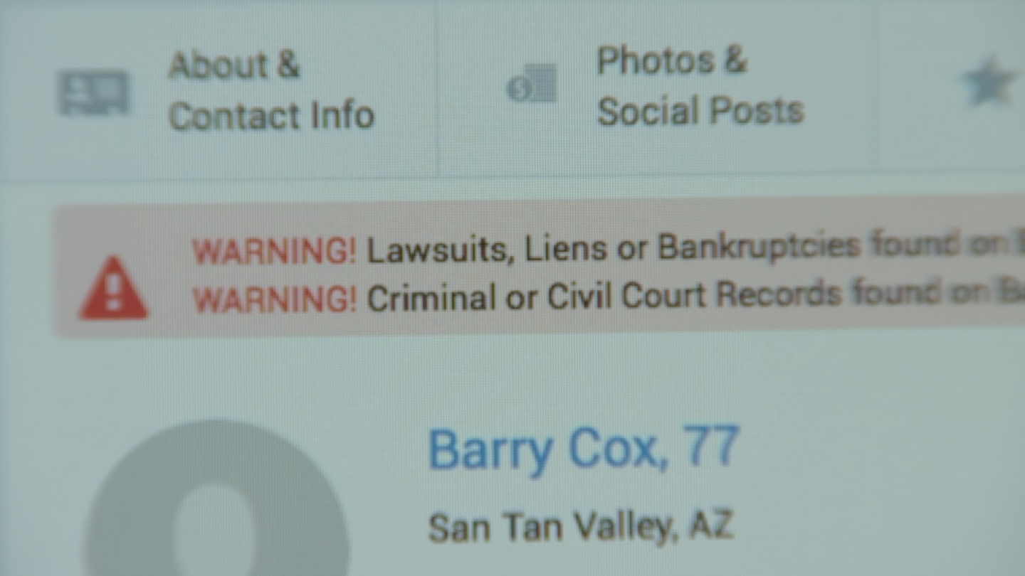 "There were a number of things that popped up on a background report for a Barry L. Cox that mentioned ""lawsuits,"" ""liens"" and ""bankruptcies."" (Source: 3TV)"