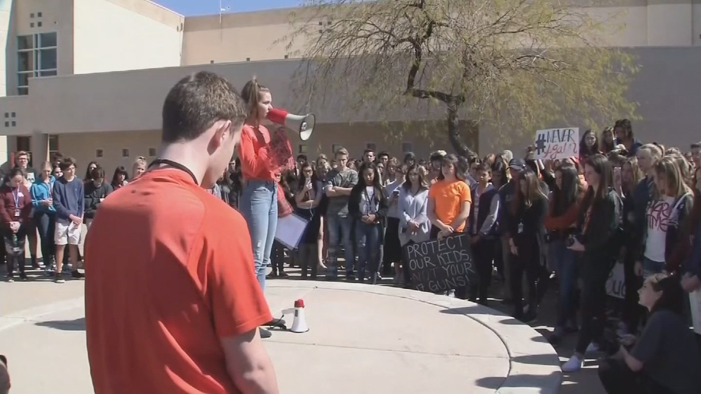 School students protest gun violence. (Source: 3TV/CBS 5 News)