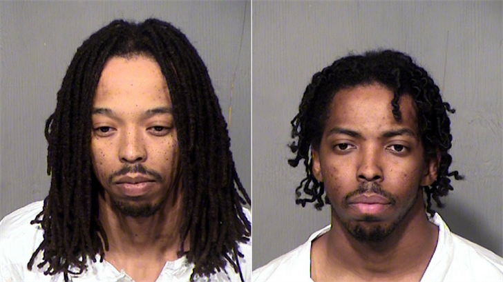 Authorities have made two arrests and released the names of two men who were fatally shot outside a Phoenix apartment complex. (Source: Maricopa County Sheriff's Office)