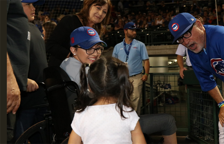 Jovanna Calzadillas attending the Cubs spring training game. (Source: Chicago Cubs)