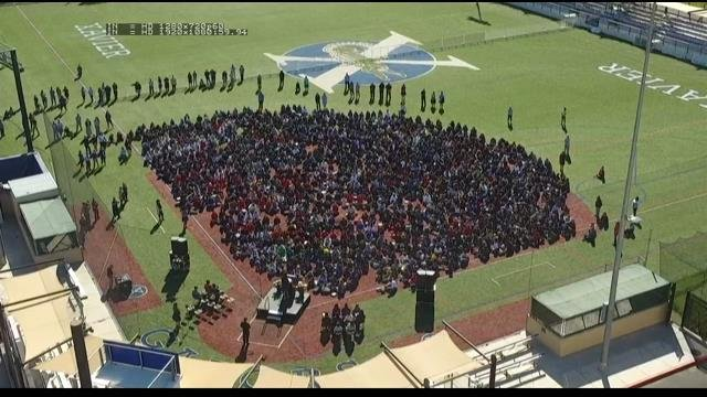 Middle school students hold walkout in response to Parkland shooting