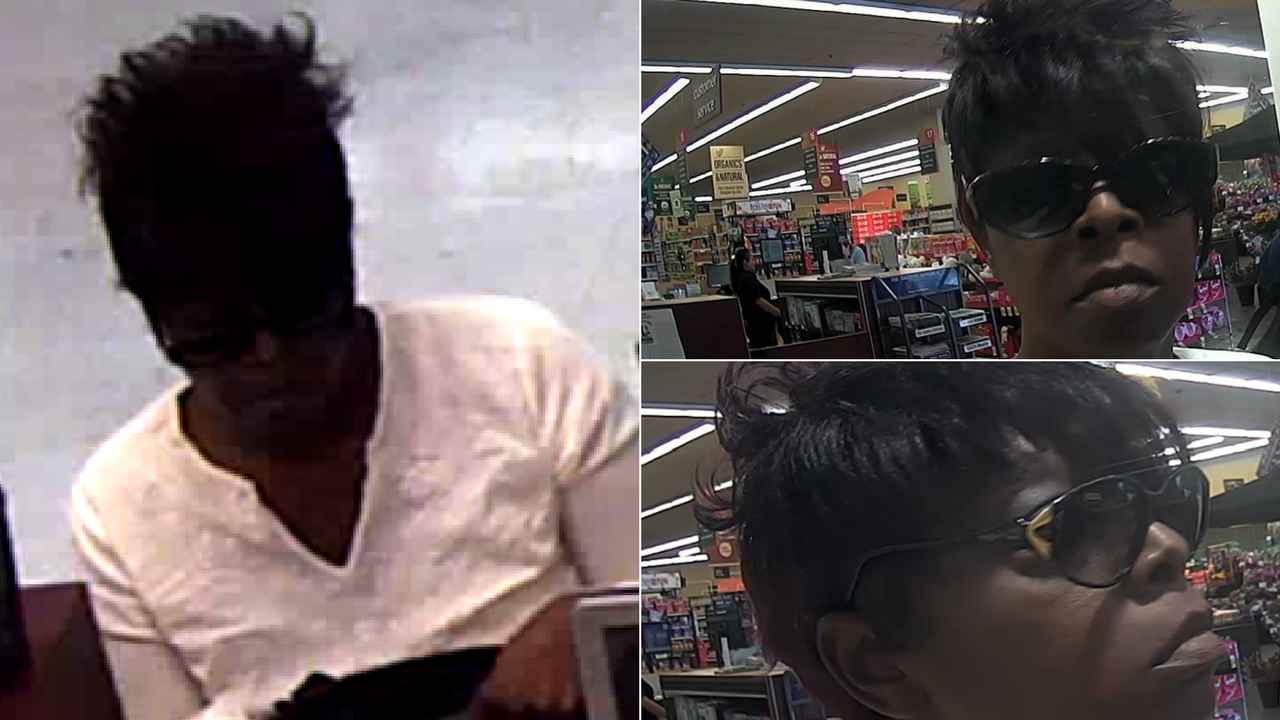 The FBI said the woman in the surveillance pictures is Yolanda Young. (Source: FBI)