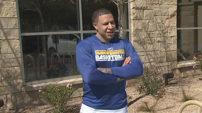 Former UofA Wildcat Mike Bibby talks about the stresses of coaching high school basketball. (Source: 3TV/CBS 5)