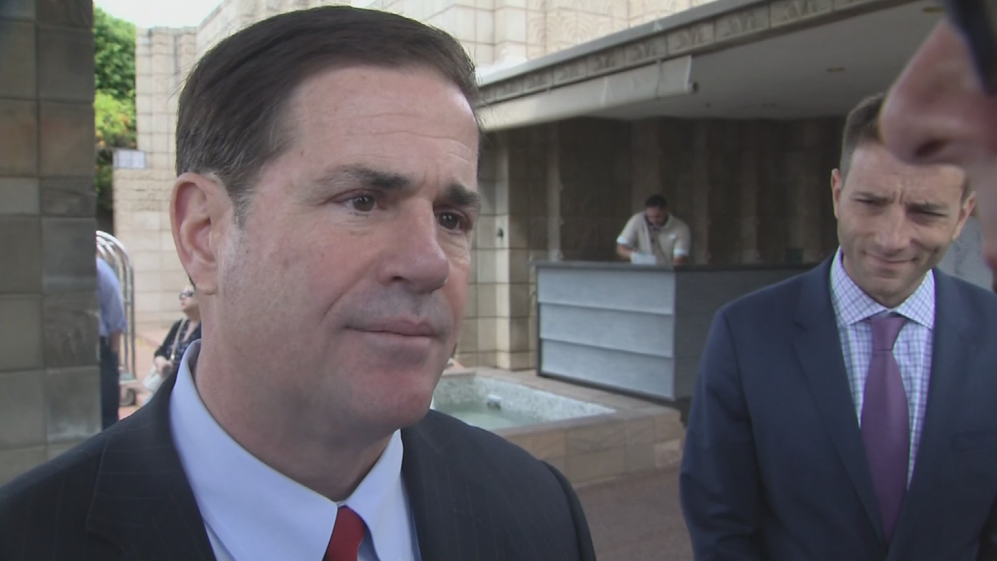 A day after students protesters stormed his office demanding action on gun control, Gov. Doug Ducey plans to roll out legislation on Monday. (Source: 3TV/CBS 5)