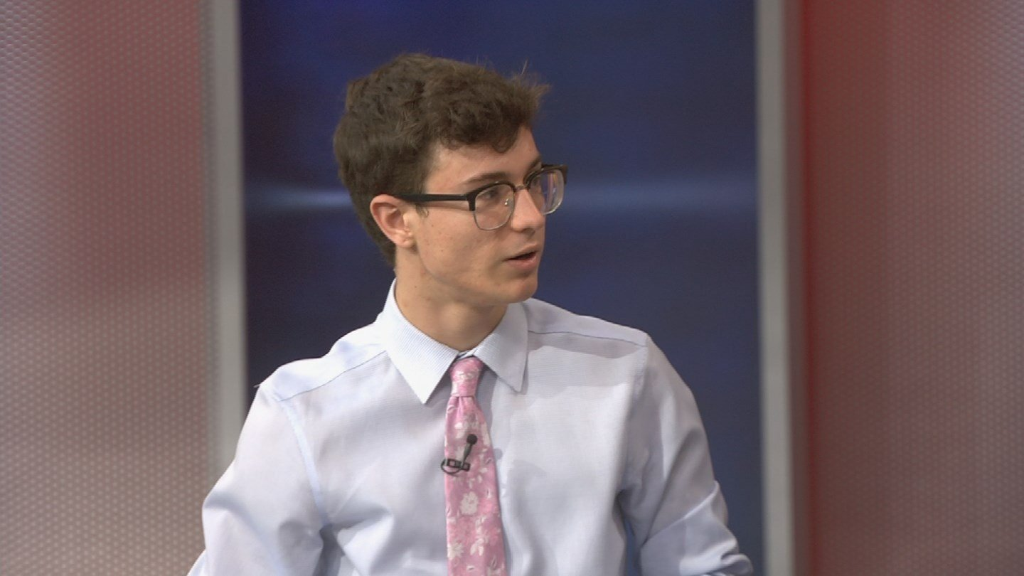 "(Source: 3TV/CBS 5)""We don't think it's enough. He says, 'school safety,' but we don't need school safety. We need gun reform,"" Jordan Harb, a high school junior, told our Dennis Welch. (Source: 3TV/CBS 5)"