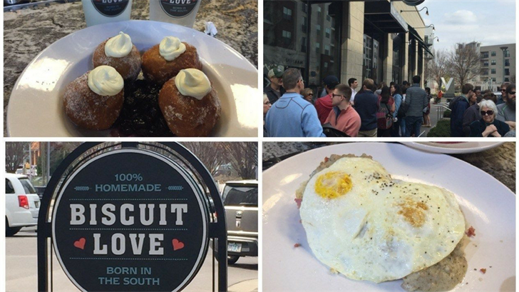 Ashlee got the same thing twice at Biscuit Love Gulch, a southern food with a twist. (Source: 3TV/CBS 5)