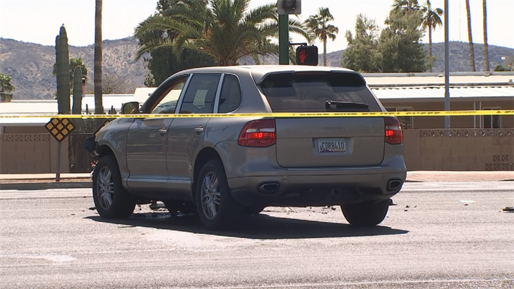 The suspect crashed into another driver near Central Avenue and Bell Road. (Source: 3TV/CBS 5)