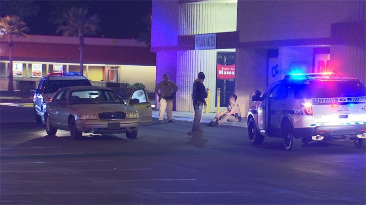 A trooper was transported to a local hospital for precautionary reasons after he was injured attempting to arrest two suspects in Phoenix Monday morning. (Source: 3TV/CBS 5)