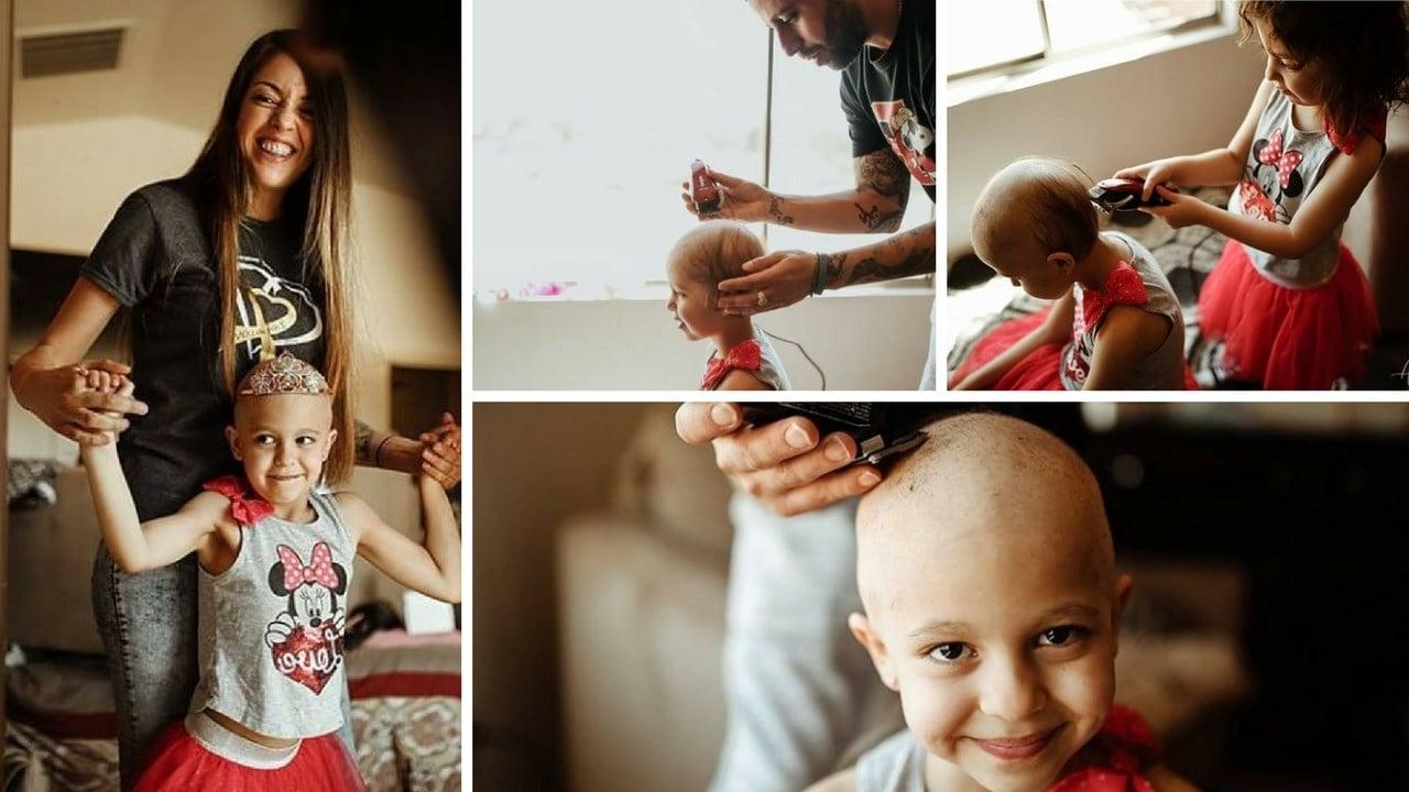 Zaliayah Rodriguez, 6, is fighting cancer. (Source: Alicia Samone Photography)