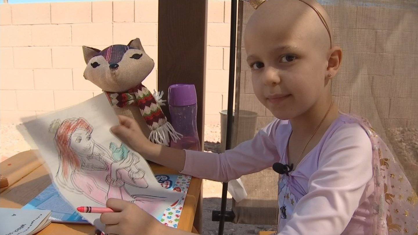 Zaliyah Rodriguez, 6, is battling stage four cancer. (Source: 3TV/CBS 5 News)