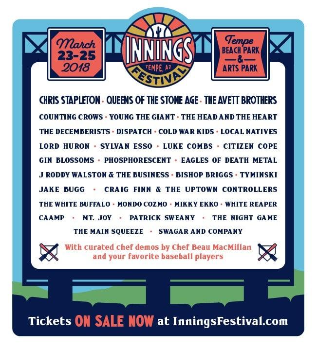 Innings Festival lineup. (Source: Innings Festival)