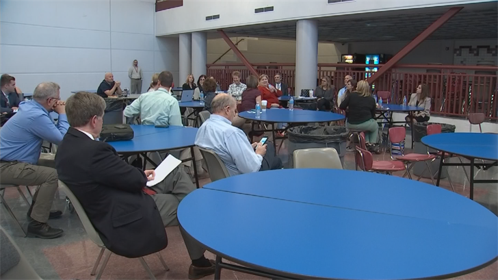 Fuller met with parents and administrators at Desert Mountain High School Monday night for a question-and-answer session that lasted about 90 minutes. (Source: 3TV/CBS 5)