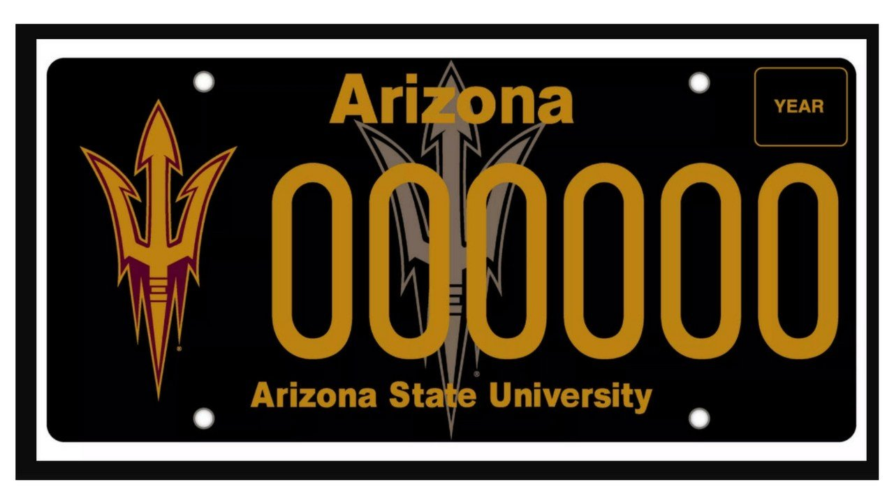 The new ASU license plate has debuted (Source: ASU)