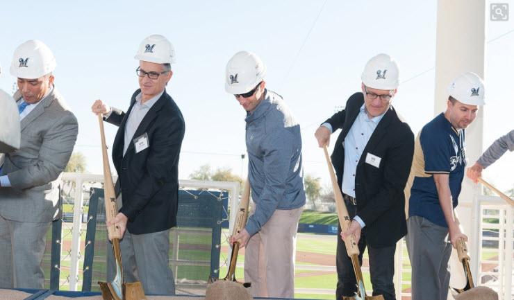 Breaking ground! (Source: Milwaukee Brewers)