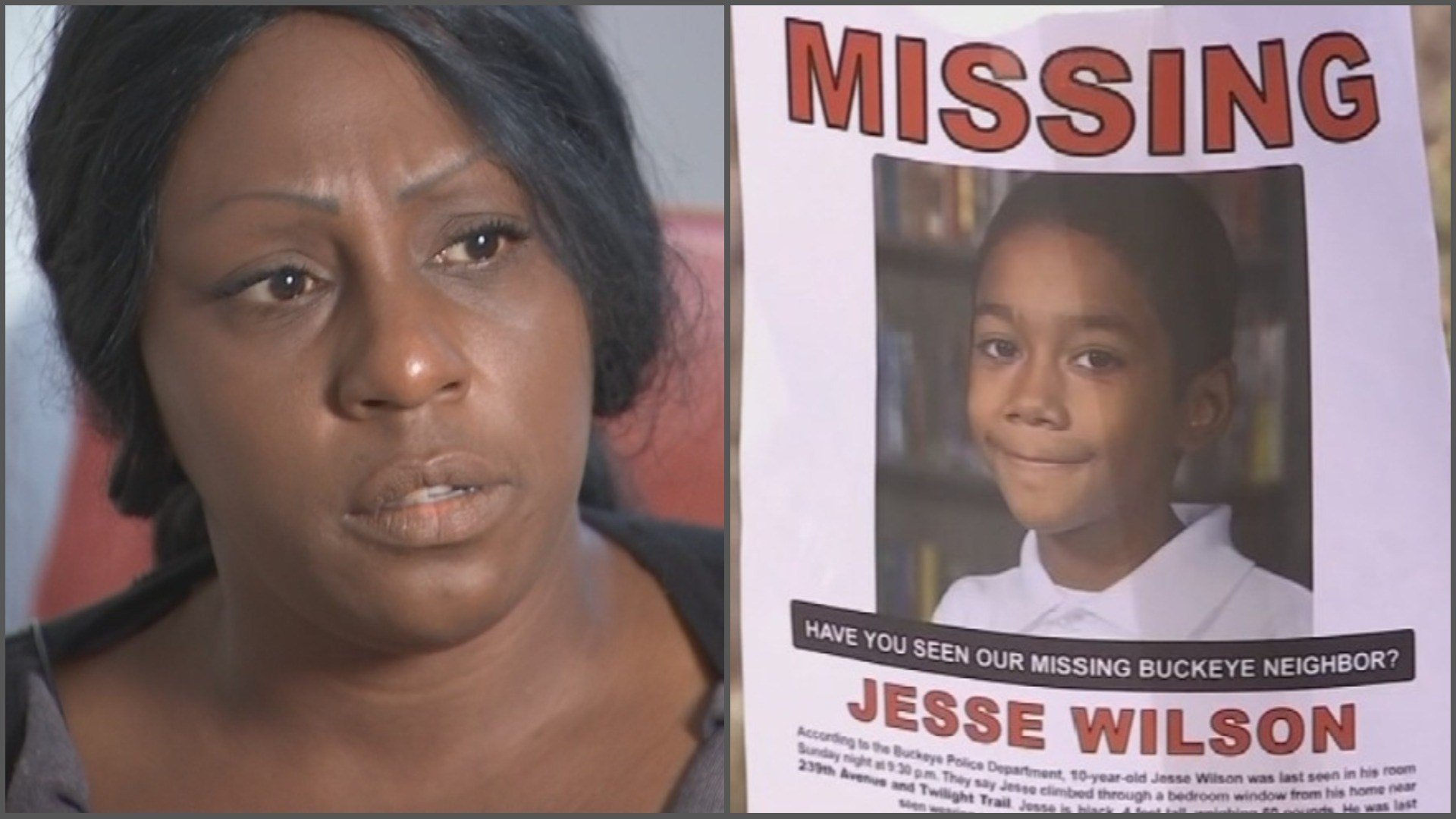 Carrissa Stuart, who claims to be the biological mother of Jesse Wilson, says she's holding out hope that he's still alive. (Source: 3TV/CBS 5)