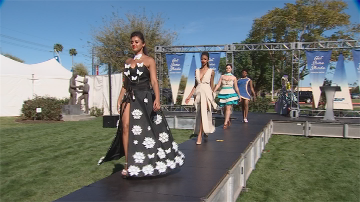 Students at Mesa Community College came up with wearable shade screens. (Source: 3TV/CBS 5)