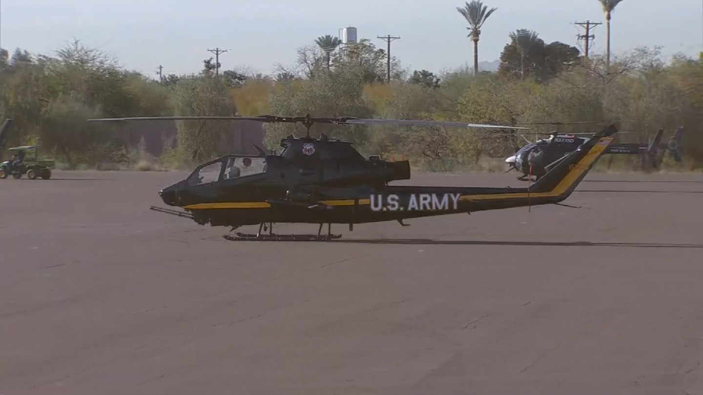 U.S. Army Cobra helicopter. (Source: 3TV/CBS 5)