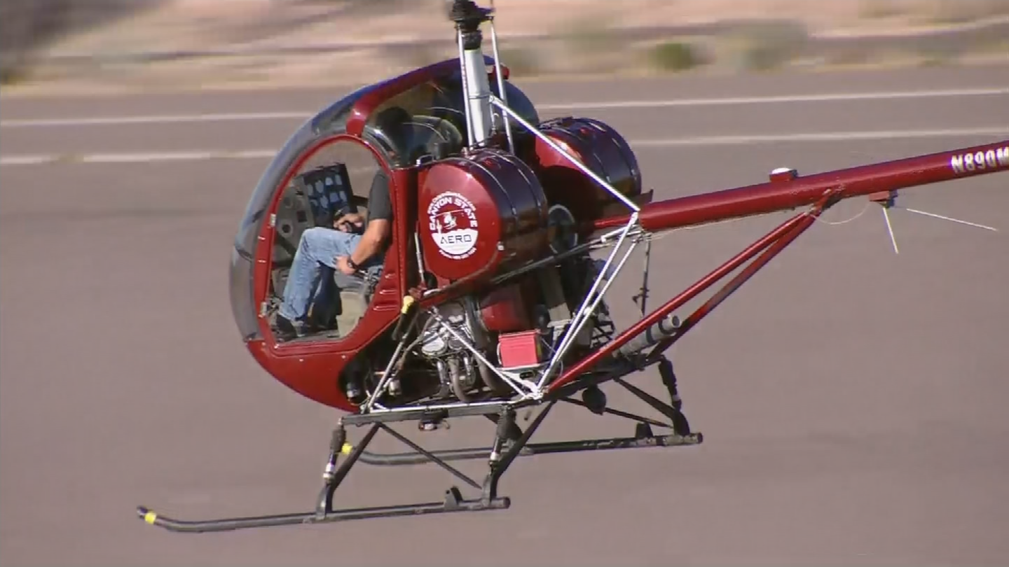 The Mesa Police Aviation Section partnered with the Federal Aviation Administration Safety Team and Helicopter Association International to provide aviators with safety training. (Source: 3TV/CBS 5)