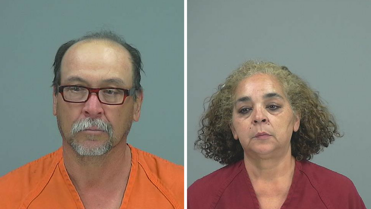 Jacinto Armentilla Canevet (left) and Silvia Ramos Lopez, both arrested on charges of possession of narcotics and intent to sell. (Source: Pinal County Sheriff's Office)