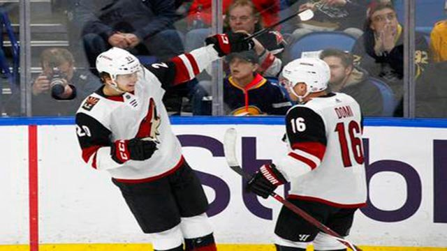 Clayton Keller and the Arizona Coyotes' youth were too much in providing the Sabres a sobering reminder of why Buffalo belongs at the bottom of the NHL standings. (Source: AP Photo)