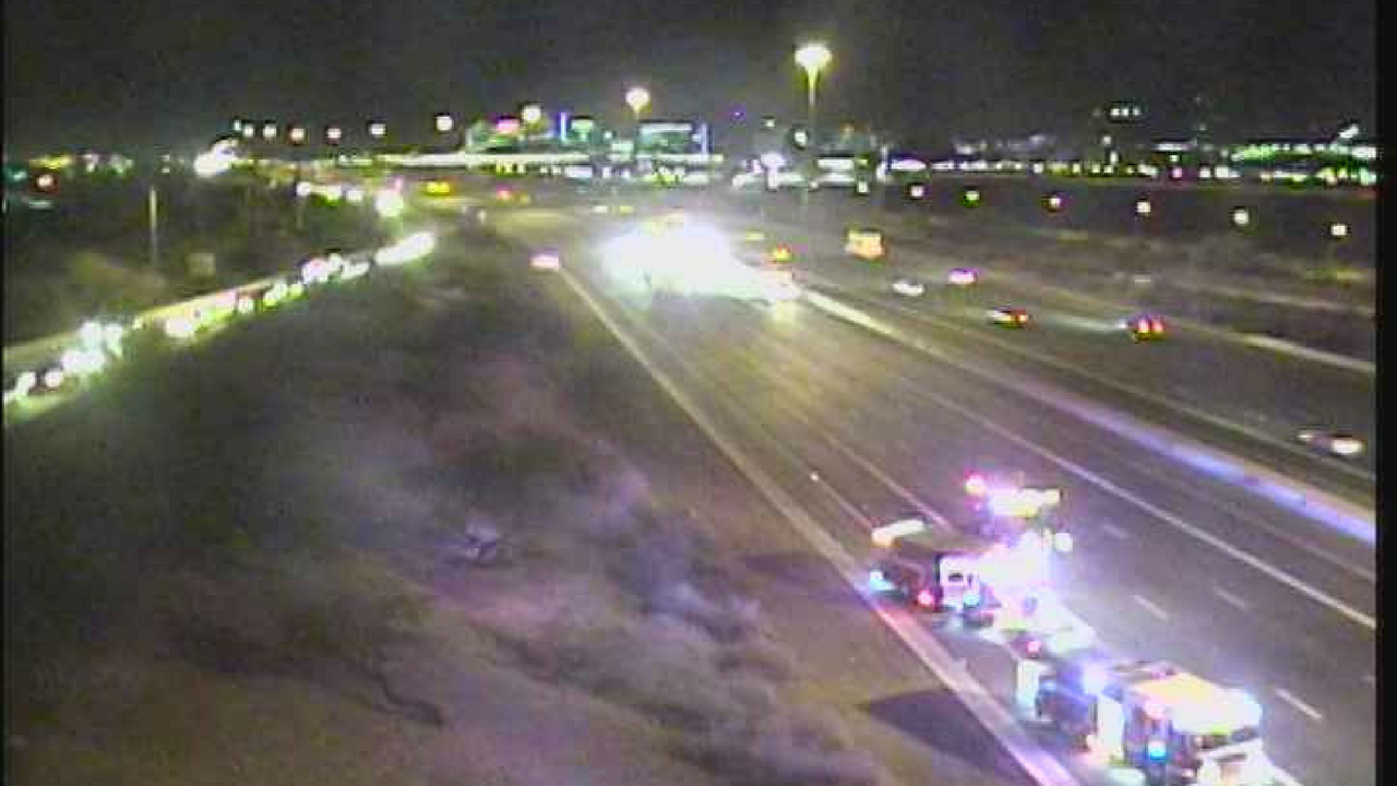 The closure lasted about an hour into the morning commute. (Source: ADOT)
