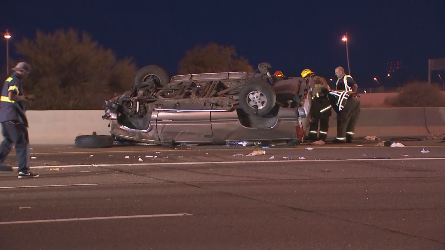 Three people were injured in the crash. (Source: 3TV/CBS 5)