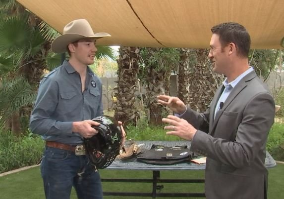 PBR rider Tanner Byrne stops by AZ Family studios. (Source: 3TV/CBS 5)