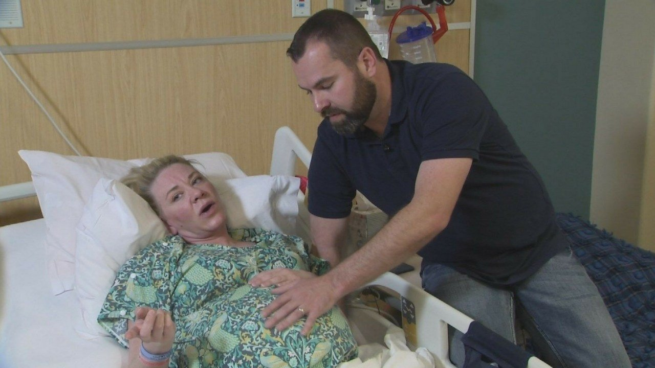 Dignity Health spokeswoman Sara Baird said in a news release that Jamie Scott delivered quintuplets Wednesday at St. Joseph's hospital in Phoenix. (Source: 3TV/CBS 5)