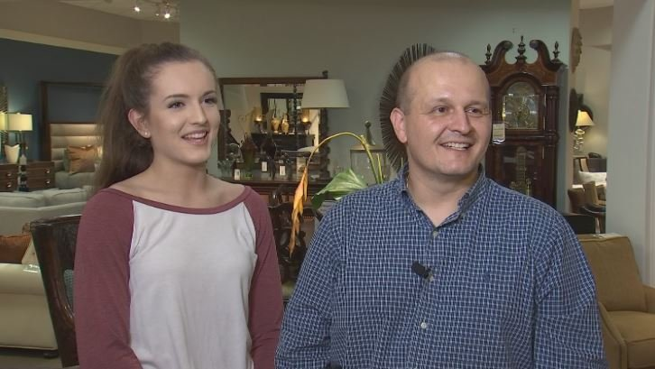Gatorade Player of the Year Taylor Chavez is spending her spring break working with her father. (Source: 3TV/CBS 5)