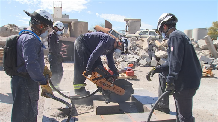 First responders underwent a class to learn how to use tools during a building disaster. (Source: 3TV/CBS 5)
