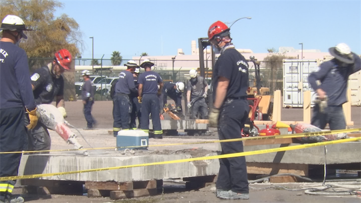 The goal is that these men will be able to quickly analyze hundreds of tons of debris, calculate the stability and load of the concrete and work to pull victims from confined spaces. (Source: 3TV/CBS 5)