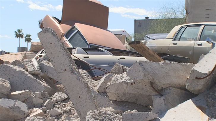 The firefighters may also have to deal with a number of hazards while sifting through rubble, like cars that could burst into flames. (Source: 3TV/CBS 5)