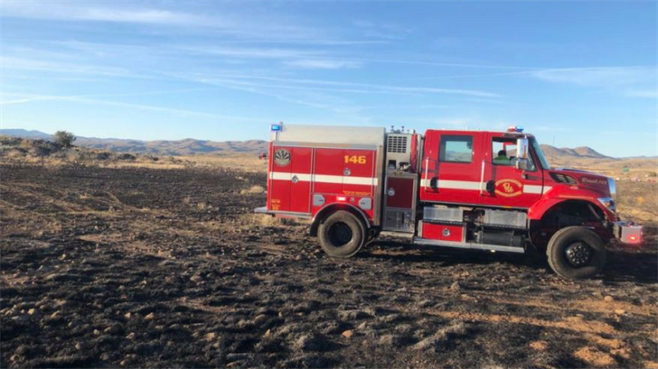 The brush fire burned 8.5 acres. (Source: Daisy Mountain Fire Department)