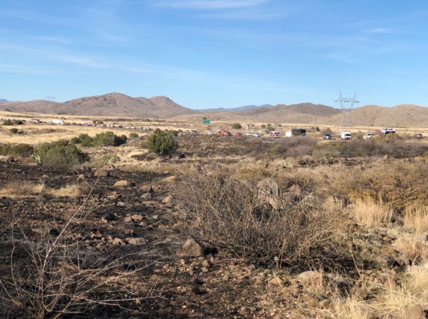 The closure was about 20 miles south of Cordes Junction. (Source: Daisy Mountain Fire Department)