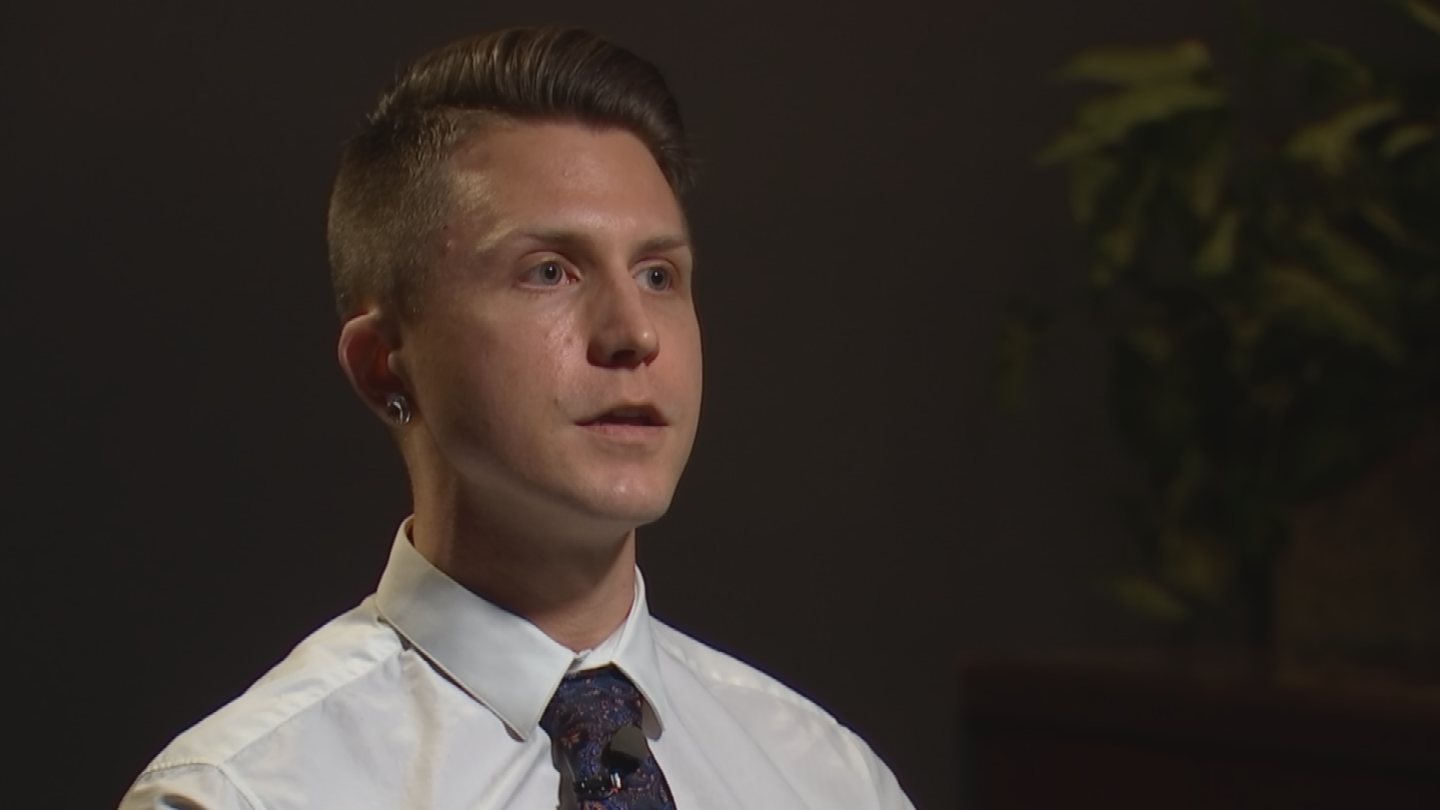 Wyatt Lupton said he had just started working at a Scottsdale wine bar when he was sexually harassed. (Source: 3TV/CBS 5)