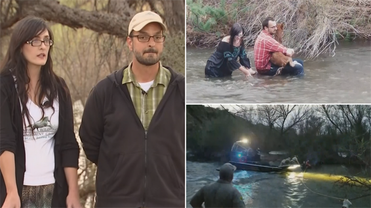 Ryan and Bren Schultz spoke about having to be rescued after trying to rescue a foal. (Source: 3TV/CBS 5/Salt River Wild Horse Management Group)