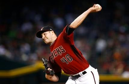 FILE - In this Sept. 24, 2017, file photo, Arizona Diamondbacks' Patrick Corbin throws a pitch against the Miami Marlins during the fourth inning of a baseball game in Phoenix. (Source: AP Photo/Ross D. Franklin)