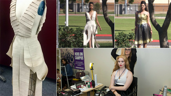 Students at Mesa Community College were challenged to make fashionable clothes out of shade screens by the Salt River Project. (Source: SRP/MCC)