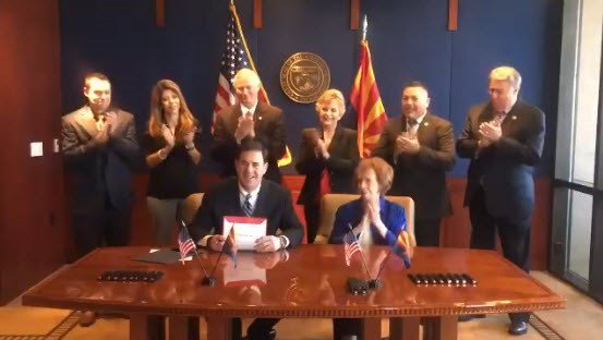 Gov. Ducey signed an education sales tax extension on Monday. (Source: Gov. Ducey)