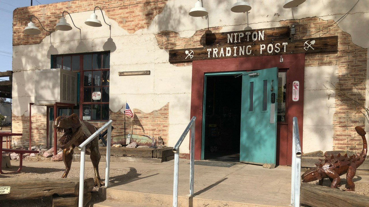 The recently updated Nipton Trading Post is the only market in a 50-mile radius. American Green Corp. of Phoenix, which recently bought the depressed town, is working to make it self-sustaining. (Photo by Micah Bledsoe/Cronkite News)