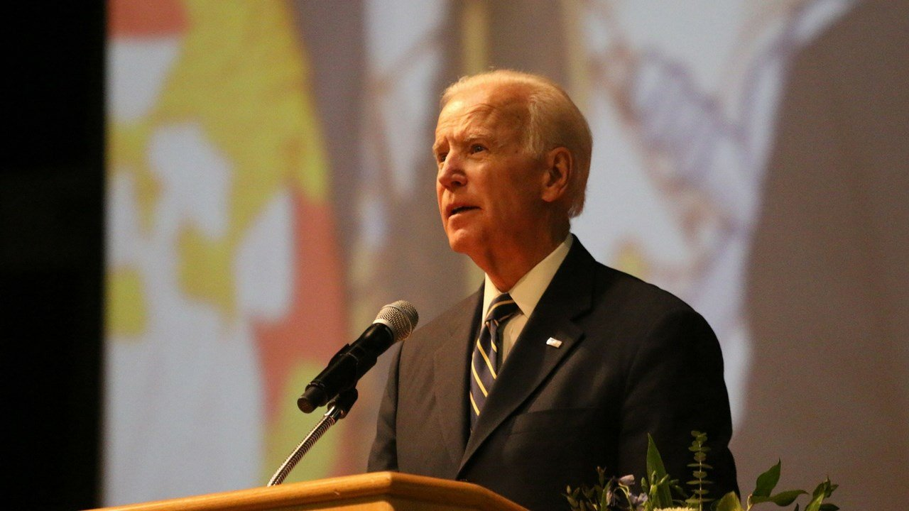 """Former Vice President Joe Biden introduced himself as a frienf of Arizona Sen. John McCain , and said McCain has led a """"life of honor, decency, duty and devotion to his country like none other in modern American history."""" (Photo by Philip Athey/Cronkite N"""