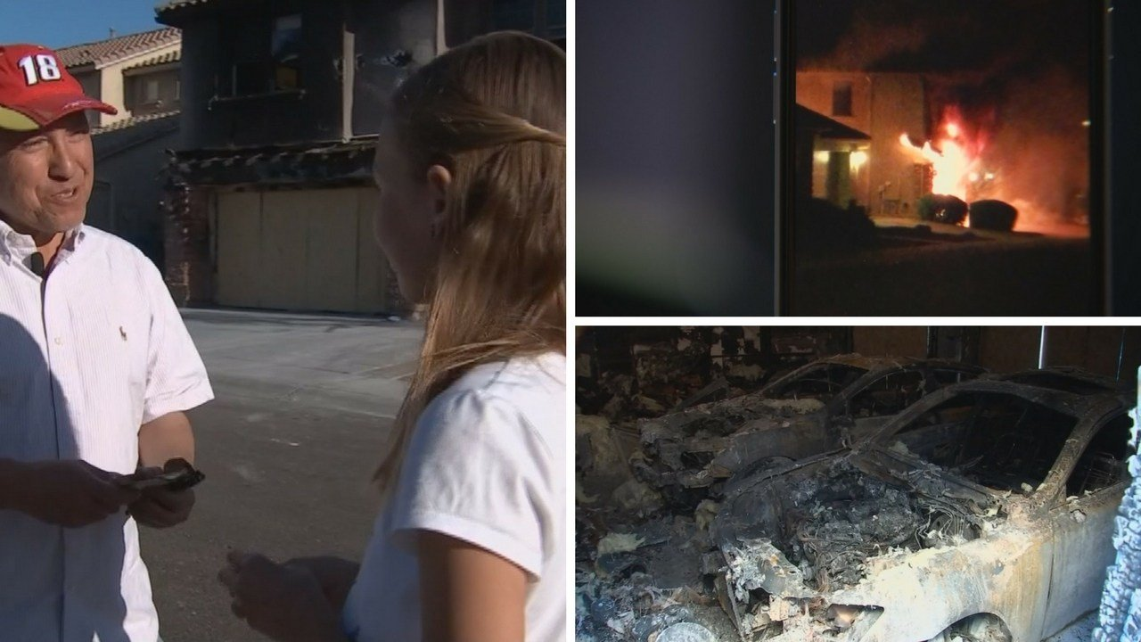 Mario Torres's home burned over the weekend. (Source: 3TV/CBS 5 News)