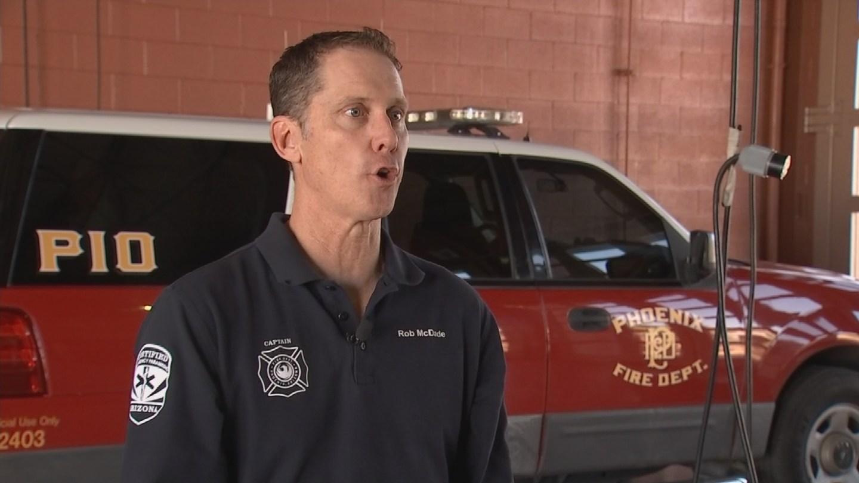 Phoenix Fire Dept. Capt. Rob Mc Dade speaks about fire fighter response time. (Source: 3TV/CBS 5 News)