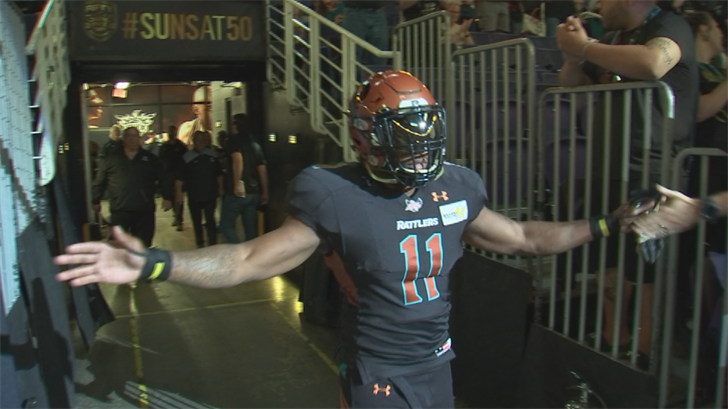 Cornerback Arkeith Brown is the most decorated player in Arizona Rattlers' history, according to the head coach. (Source: 3TV/CBS 5)