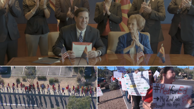 On the same day Gov. Doug Ducey extended a tax to pay fund education, leaders in a growing teachers group vowed to keep up the pressure on state leaders for better teacher pay. (Source: 3TV/CBS 5)