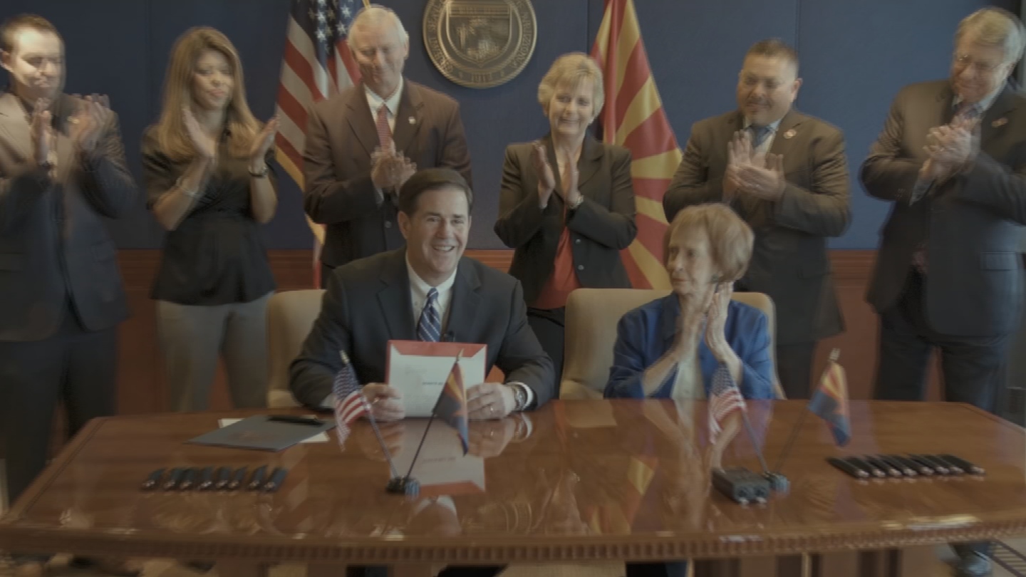 Ducey's signature followed increasing pressure from teachers and education officials to pump more money into K-12 schools, which suffered steep budget cuts during the recession. (Source: 3TV/CBS 5)