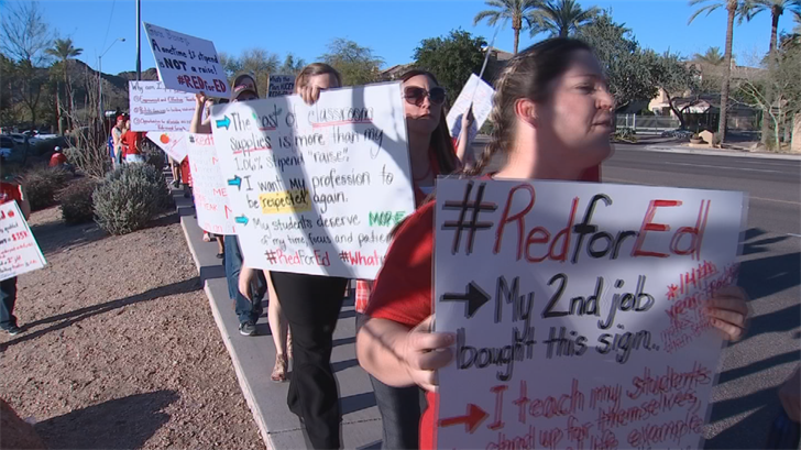 The RedForEd movement is planning to lay out their demands at a demonstration planned for Wednesday at the state Capitol. (Source: 3TV/CBS 5)